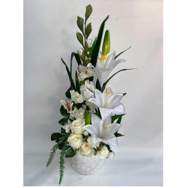סידור פרחי משי 3
