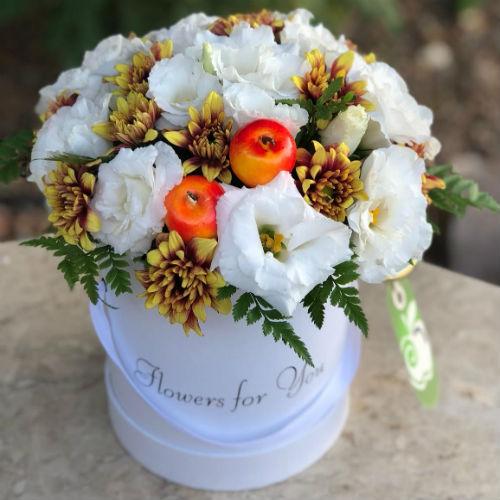 סידור פרחים בקופסא 6