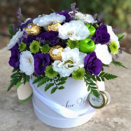 סידור פרחים בקופסא 7