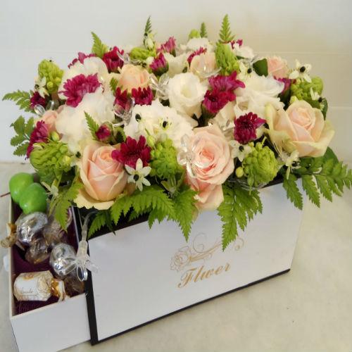 סידור פרחים בקופסא 11
